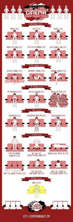 E TU? COME TI SIEDI AL CINEMA? *INFOGRAFICA* | 22 stili diversi, qual è il tuo?
