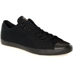 Converse All Star Lean Shoes (Mono Black) ($68) ❤ liked on Polyvore featuring shoes, converse footwear, black shoes, kohl shoes and converse shoes