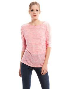 Bershka Latvia - Bershka V-neck back T-shirt