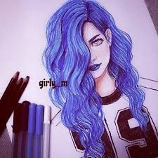 art, girl, and girly_m image App Drawings, Tumblr Drawings, Art Sketches, Pretty Drawings, Amazing Drawings, Amazing Art, Tumblr Hipster, Girly M, Hair Sketch