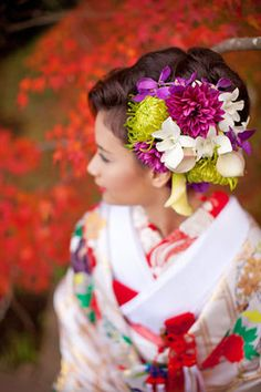 【結婚式・和婚】【美しい】色内掛+洋髪スタイルまとめ [随時更新] - NAVER まとめ