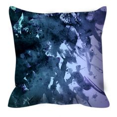 SPLASH OUT 4 Blue Lilac Purple Black Ombre Beach Ocean Art Suede Decorative Throw Pillow Cushion Cover by EbiEmporium on Etsy, #beach #splash #ombre #blue #homedecor #pillowcover #throwpillow #moderndecor
