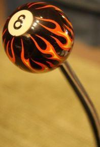 Flaming 8 Ball Shift Knob