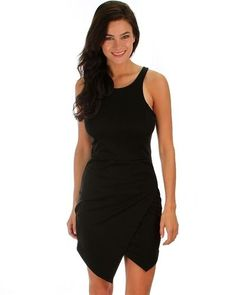 NEW WOMENS BLACK BODYCON DRESS SIZE MEDIUM  #Unbranded #StretchBodycon