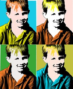 Andy Warhol Pop Art Silkscreen Photoshop Effect. Lesson plan plus Photoshop step by step
