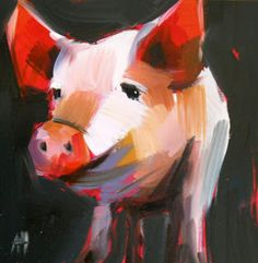 pig no. 8 | angela moulton's painting a day