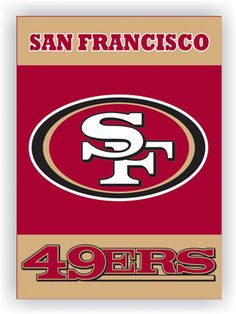 NFL San Francisco 49Ers 2 Sided 28 X 40 House Banner