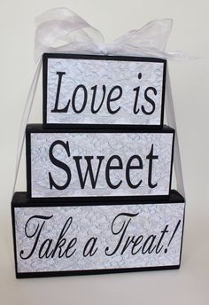 Sweet Table  Candy Bar  Wedding Sign  by SignsoftheSeason on Etsy, $25.00