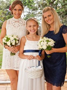 Bianca, Darcy and Ricky (Lisa, Alea and Bonnie) Movie Wedding Dresses, Wedding Movies, Bonnie Sveen, Home And Away Cast, Kissing Booth, Amazing Pics, Love Home, Favorite Tv Shows, Flower Girl Dresses