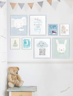 Nursery art Prints Set of 8 art Prints Offer by ArtFilesVicky