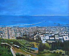 A painting of the city