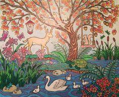 ColorIt Blissful Scenes Colorist: Jennifer Hay #adultcoloring #coloringforadults #adultcoloringpages #scenes