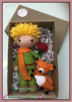 Le Petit Prince ✨🌑🌹 Broken link 😞 pinned for inspirationThe Little Prince Crochet Diy, Crochet Amigurumi, Love Crochet, Amigurumi Doll, Crochet Dolls, Crochet Patterns Amigurumi, Stuffed Toys Patterns, Crochet Animals, Yarn Crafts