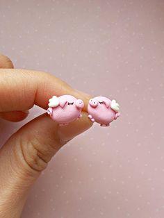 Puces d'oreilles, Boucles d'oreilles Le petit cochon est une création orginale de NahootDesign sur DaWanda