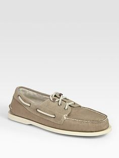 Band of Outsiders - Suede and Canvas Boat Shoes - Saks.com