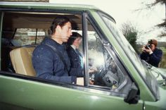 1981-02-20 Diana leaving Gaselee Stables with Charles. NB This date is in controversy and could be March 1981.