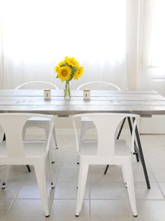 A Story About A DIY Table and Four Awesome Chairs - Home - Love the chairs! Using Ikea Vika Lerberg legs || Creature Comforts - daily inspiration, style, diy projects + freebies