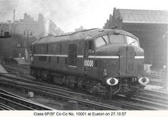 10001 at Euston Electric Locomotive, Diesel Locomotive, Rail Train, British Rail, Steam Engine, Diesel Engine, Great Britain, Transportation, Around The Worlds