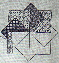 Blackwork Patterns, Blackwork Embroidery, Modern Embroidery, Embroidery Hoop Art, Cross Stitch Embroidery, Embroidery Patterns, Cross Stitch Designs, Cross Stitch Patterns, Line Design Pattern