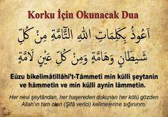 Korku için okunacak Dua Islamic Love Quotes, Islam Quran, Allah, Oakley, Prayers, Car Cleaning, Cleaning Hacks, Fashion, Pictures