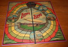 1925 Antique Board Game Zippy Zepps All Fair Zeppelin Game 5 Metal Toy Airships | eBay