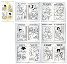 Mom is Breastfeeding coloring book. Might be cool to have during la Leche league meetings for preschoolers that come