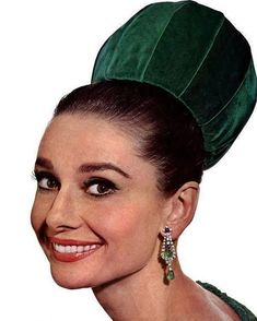 """This Was Fashion (@thiswasfashion) on Instagram: """"Audrey Hepburn wearing a velvet hat from Hubert de Givenchy for the cover of Vogue, November 1964.…"""""""