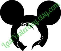 Snow White Mickey Head DIGITAL DOWNLOAD svg jpg png - by LastYesterday on Etsy