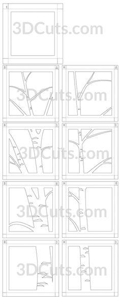Kirigami, 3d Cuts, Box Template Printable, Classe Harry Potter, Licht Box, Diy Shadow Box, Tree Stencil, Tree Wall Murals, Aspen Trees