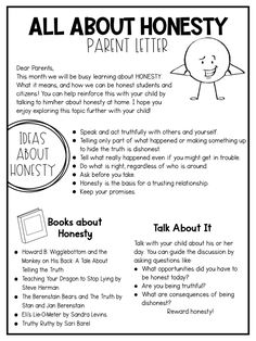 Honesty lessons for the whole month includes parent letters, student books, printables, activities and more! Teach your students character traits that help them become the best versions of themselves!
