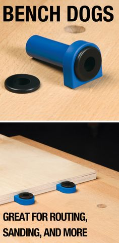 These easy-to-use Bench Dogs will help make your next project easier. Included with each Bench Dog is a rubber brake that can be placed on top of the Bench Dog for a solid, non-slip work surface – perfect for routing, sanding, and more!
