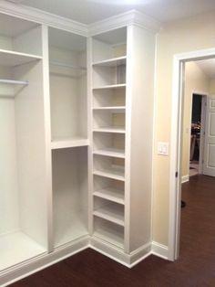 Custom Built-in Closet - Garderobe Design - Aufbewahrung Closet Redo, Closet Remodel, Closet Renovation, Home, Built Ins, Closet Designs, Build A Closet, Bathroom Closet, Closet Layout