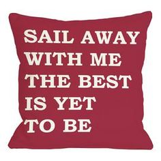 Add a nautical touch to your home d�cor with this charming pillow, perfect for your sofa, bed, or favorite arm chair.  Product: PillowConstruction Material: Polyester and down alternative fillColor: Red and ivoryFeatures:  Insert includedMade in the USA Dimensions: 18 x 18