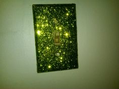 DIY glitter light cover.