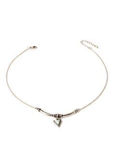 Stone Crescent Necklace