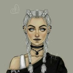 girly_m, nice, dark, grey hair, drawings, girl
