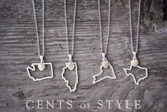 *Gone!* State-shaped necklaces, 50 to choose from, $11.95 shipped (reg. $25)