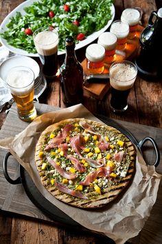 Beer tasting and pizza party menu