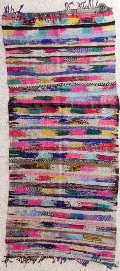 Boucherouite Rug 4#10 - 9.5 x 4