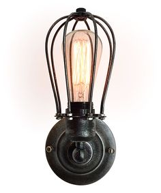 Vintage Black Wire Cage Wall Sconce. 11.8'' H x 4.7'' diameter. $46.99.