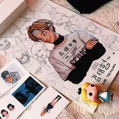 Birthday girl ✨ @ines_aliaga got this Taehyung poster for her bday that her friends asked me to draw! I'm so happy to hear that you liked it! HOPE YOU HAVE A WONDERFUL DAY BOO☺️ I can also see some stickers from my redbubble there uh hUHHHHH