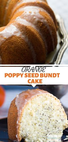 This delicious and moist orange poppy seed bundt cake is a must make. Citrus flavored cake that is moist and covered in a sweet glaze. Cupcake Recipes, Cupcake Cakes, Dessert Recipes, Cupcakes, Dessert Ideas, Poppy Seed Bundt Cake, Orange Poppy Seed Cake, Frozen Chocolate, Chocolate Tarts