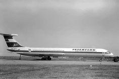 Interflug Iljuschin 62 DM-SEA. Diese Maschine stürzte am 14.8. 1972 bei Königs Wusterhausen ab.