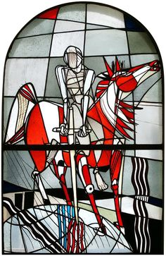 windows depicting the Four Horsemen of the Apocalypse were designed in 1954 by Georg Meistermann (1911-1990) and are located in the Old Town Hall- Municipal Gallery for Modern Art in Wittlich, Germany.