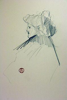 Toulouse Lautrec  pencil drawing