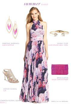 Eliza J Floral Chiffon Maxi Dress (Regular & Petite) Floral Chiffon Maxi Dress, Maxi Dresses Uk, Chiffon Gown, Women's Fashion Dresses, Summer Dresses, Bridesmaid Dresses, Woman Dresses, Print Chiffon, Outfit Summer