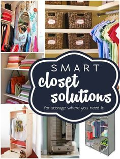 for the storage space you need! Unless you've built your dream house with no budget limits whatsoever (which means you're J.Lo and, umm, can I get your autograph?), you can probably use a little bit more. Master Closet, Closet Bedroom, Closet Space, Master Bathroom, No Closet Solutions, Storage Solutions, Storage Ideas, Smart Storage, Smart Closet