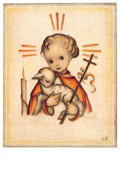 """vintage unused  greeting cards  ARS SACRA Hummel """"angels """"1484"""""""