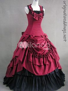 Red and Black Gown - Bride