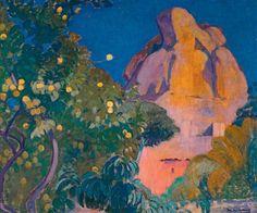 Paysage au citronnier by Jean van den Eeckhoudt Global Art, Art Market, Pills, Past, Painting, Lemon, Landscape, Past Tense